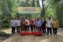 Trà Vinh: Chùa Long Bửu khởi công xây cầu nông thôn